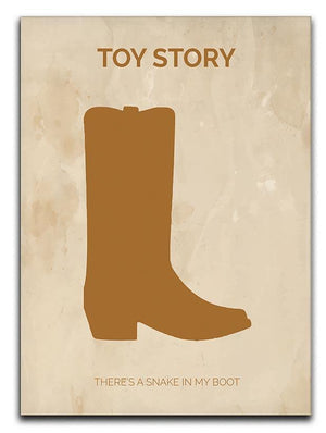 Toy Story Minimal Movie Canvas Print or Poster  - Canvas Art Rocks - 1
