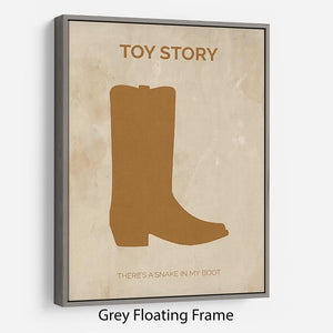 Toy Story Minimal Movie Floating Frame Canvas - Canvas Art Rocks - 3