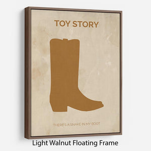 Toy Story Minimal Movie Floating Frame Canvas - Canvas Art Rocks - 7