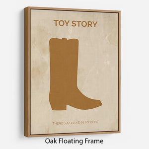 Toy Story Minimal Movie Floating Frame Canvas - Canvas Art Rocks - 9