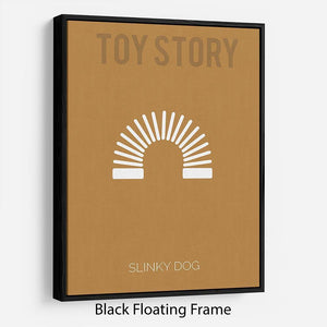 Toy Story Slinky Dog Minimal Movie Floating Frame Canvas - Canvas Art Rocks - 1