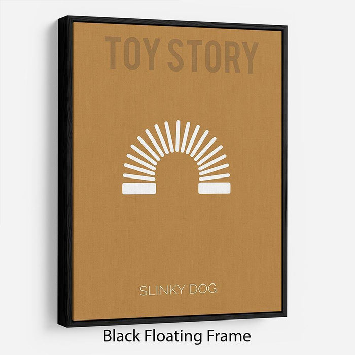 TOY STORY SLINKY DOG MINIMAL MOVIE Floating Framed Canvas