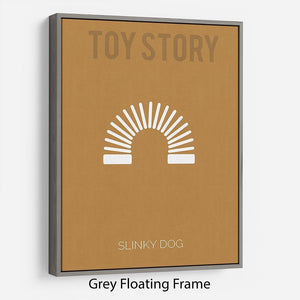 Toy Story Slinky Dog Minimal Movie Floating Frame Canvas - Canvas Art Rocks - 3