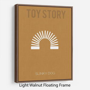 Toy Story Slinky Dog Minimal Movie Floating Frame Canvas - Canvas Art Rocks - 7