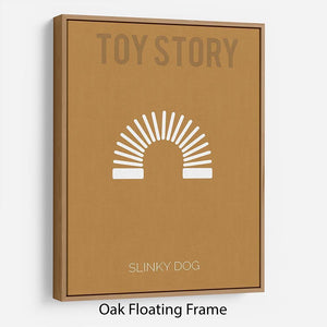 Toy Story Slinky Dog Minimal Movie Floating Frame Canvas - Canvas Art Rocks - 9
