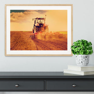 Tractor in sunset Framed Print - Canvas Art Rocks - 3