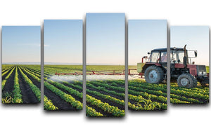 Tractor spraying 5 Split Panel Canvas  - Canvas Art Rocks - 1