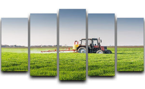 Tractor spraying wheat field 5 Split Panel Canvas  - Canvas Art Rocks - 1