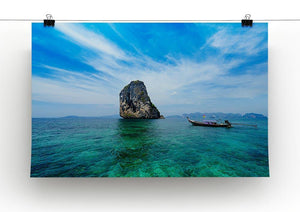 Traditional Thai boat in the blue sea Canvas Print or Poster - Canvas Art Rocks - 2