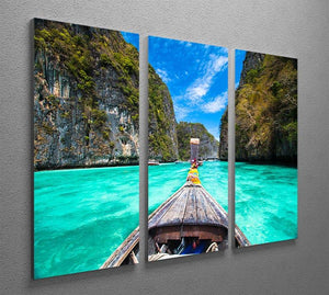 Traditional wooden boat 3 Split Panel Canvas Print - Canvas Art Rocks - 2