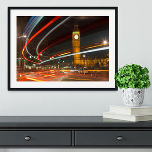Traffic in night London Framed Print - Canvas Art Rocks - 1
