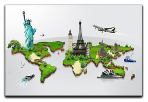 Travel the world concept Canvas Print or Poster  - Canvas Art Rocks - 1