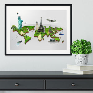 Travel the world concept Framed Print - Canvas Art Rocks - 1
