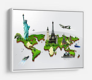 Travel the world concept HD Metal Print