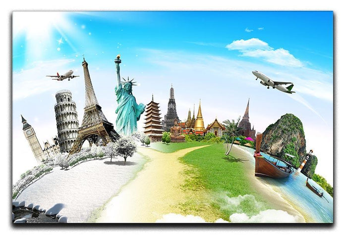 Travel the world monument Canvas Print or Poster