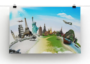 Travel the world monument Canvas Print or Poster - Canvas Art Rocks - 2