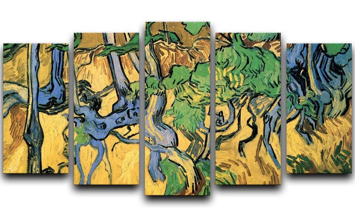 Tree Roots and Trunks by Van Gogh 5 Split Panel Canvas