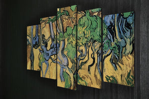 Tree Roots and Trunks by Van Gogh 5 Split Panel Canvas - Canvas Art Rocks - 2