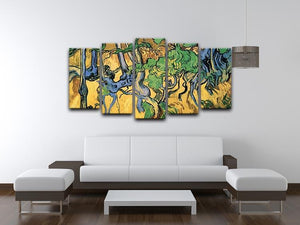 Tree Roots and Trunks by Van Gogh 5 Split Panel Canvas - Canvas Art Rocks - 3