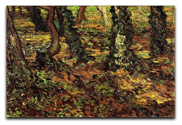 Tree Trunks with Ivy by Van Gogh Canvas Print or Poster