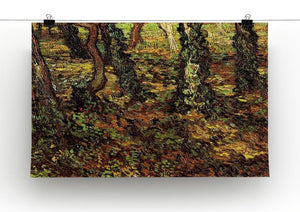 Tree Trunks with Ivy by Van Gogh Canvas Print & Poster - Canvas Art Rocks - 2