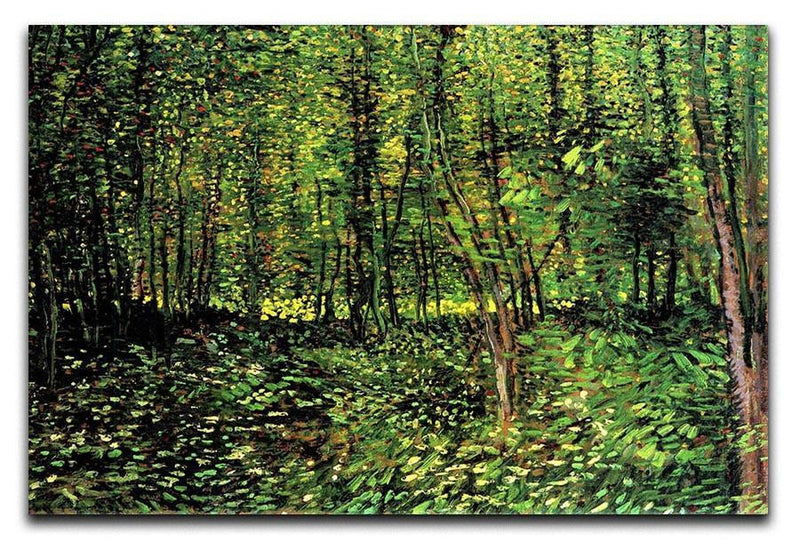 Trees and Undergrowth 2 by Van Gogh Canvas Print & Poster  - Canvas Art Rocks - 1