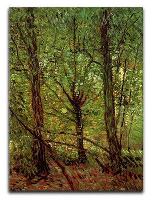 Trees and Undergrowth by Van Gogh Canvas Print & Poster  - Canvas Art Rocks - 1