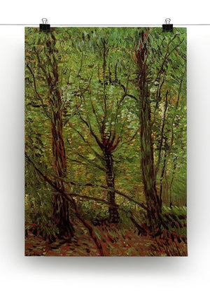 Trees and Undergrowth by Van Gogh Canvas Print & Poster - Canvas Art Rocks - 2