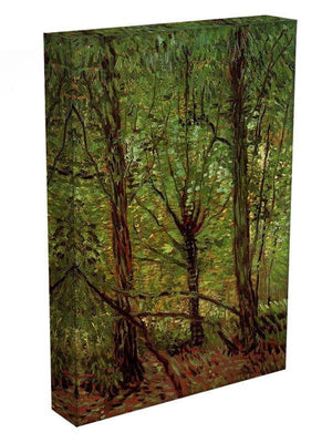 Trees and Undergrowth by Van Gogh Canvas Print & Poster - Canvas Art Rocks - 3