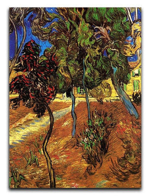 Trees in the Garden of Saint-Paul Hospital 2 by Van Gogh Canvas Print & Poster  - Canvas Art Rocks - 1