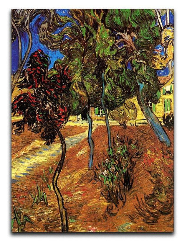 Trees in the Garden of Saint-Paul Hospital 2 by Van Gogh Canvas Print or Poster