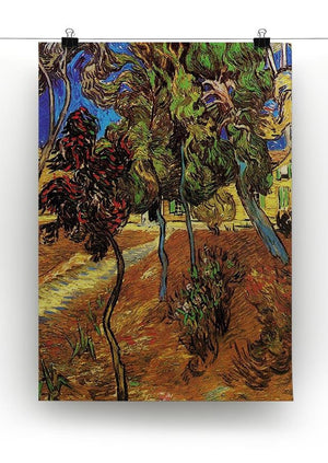Trees in the Garden of Saint-Paul Hospital 2 by Van Gogh Canvas Print & Poster - Canvas Art Rocks - 2