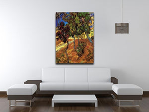 Trees in the Garden of Saint-Paul Hospital 2 by Van Gogh Canvas Print & Poster - Canvas Art Rocks - 4