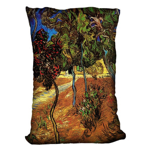 Trees in the Garden of Saint-Paul Hospital 2 by Van Gogh Throw Pillow