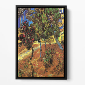 Trees in the Garden of Saint-Paul Hospital 2 by Van Gogh Floating Framed Canvas