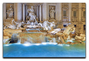 Trevi Fountain Rome Canvas Print or Poster  - Canvas Art Rocks - 1