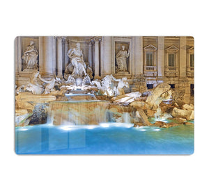 Trevi Fountain Rome HD Metal Print
