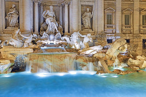 Trevi Fountain Rome Wall Mural Wallpaper - Canvas Art Rocks - 1