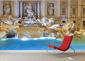 Trevi Fountain Rome Wall Mural Wallpaper - Canvas Art Rocks - 2