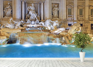 Trevi Fountain Rome Wall Mural Wallpaper - Canvas Art Rocks - 4