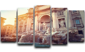 Trevi Fountain in Rome Italy 5 Split Panel Canvas  - Canvas Art Rocks - 1