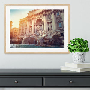 Trevi Fountain in Rome Italy Framed Print - Canvas Art Rocks - 3