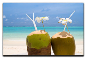Tropical Coconut Cocktail Canvas Print or Poster - Canvas Art Rocks - 1