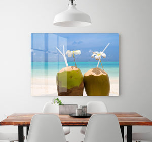 Tropical Coconut Cocktail HD Metal Print - Canvas Art Rocks - 2
