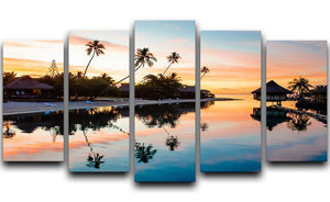 Tropical Sunset at Moorea 5 Split Panel Canvas - Canvas Art Rocks - 1