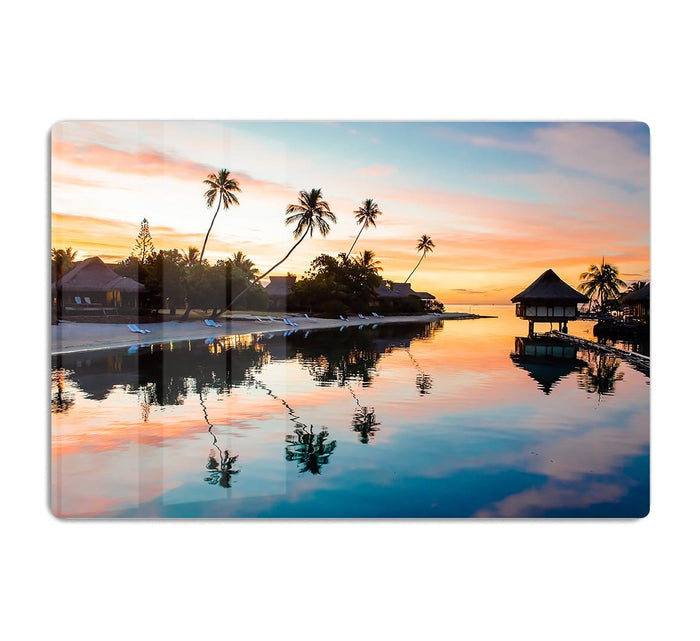 Tropical Sunset at Moorea HD Metal Print
