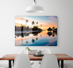 Tropical Sunset at Moorea HD Metal Print - Canvas Art Rocks - 2