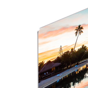 Tropical Sunset at Moorea HD Metal Print - Canvas Art Rocks - 4