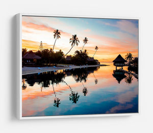 Tropical Sunset at Moorea HD Metal Print - Canvas Art Rocks - 7