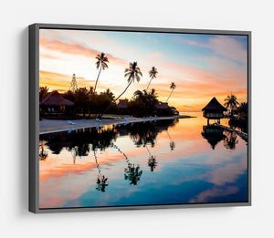 Tropical Sunset at Moorea HD Metal Print - Canvas Art Rocks - 9